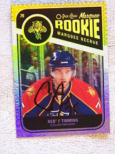 Florida Panthers Scott Timmins Auto 11/12 O-Pee-Chee Foil Rookie Card