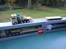 "WSI 1/87 MAN TGX  8X4 + SEMI-REMORQUE EXTENSIBLE "" H.N. KRANE "" MINT IN BOX"