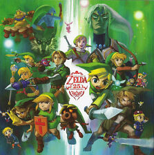 "the legend of zelda 25th anniversary Game Fabric poster 13"" x 13"" Decor 96"