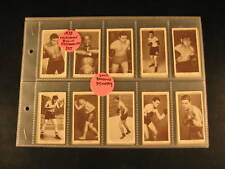 1938 Churchman's Boxing Personalities Complete Set