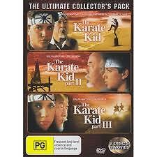KARATE KID 1 + 2 + 3 DVD MARTIAL ARTS PAT MORITA RALPH MACCHIO FAMILY NEW+SEALED