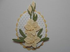 Die cuts - Embossed Hippeastrum - Assembled  Flowers Card Toppers Mats (A)