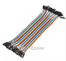 40pcs Dupont wire 20cm cable Line color 1p-1p pin connector Female to Female
