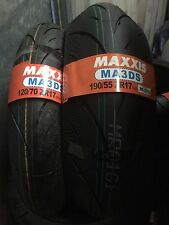 1x 120/70/17 1x 190/55/17 Maxxis Supermaxx Diamond MA3DS Motorcycle tyres PAIR