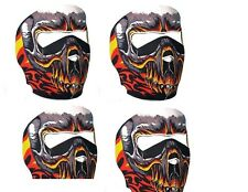 NEOPRENE Full Face Mask Teschio Infuocato - 3 mm SPESSORE GRANDE DESIGN NUOVO