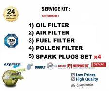 4 FILTERS SERVICE KIT + 4x PLUGS for SUBARU IMPREZA Sal 2.0 WRX STi AWD 2001-05