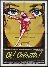 OH! CALCUTTA! MANIFESTO CINEMA OFF-BROADWAY SEXUAL MUSICAL 1973 MOVIE POSTER 2F