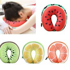 Fruit U-Shaped Travel Neck Pillow Support Cushion Head Rest Soft PP Cotton Gift
