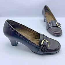 Aerosoles Marianne Women Brown Faux Snake Loafer Heel Shoe Size 8M Pre Owned