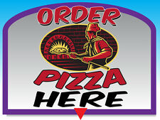 """ORDER PIZZA HERE 24""""x18"""" LARGE HANGING COUNTER WALL FOOD SIGNS"""