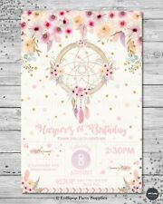 DREAM CATCHER INVITATION BOHO TRIBAL BIRTHDAY INVITE 18TH  21ST 30TH 40TH 50TH