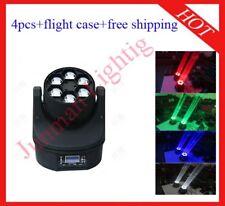 4pcs 6*15W Bee Eyes LED Beam Moving Head Stage Light Flight Case Free Shipping