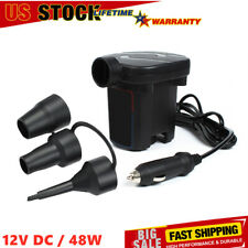 Electric Air Pump For Pool Fast Inflator Deflator Camp Air Bed Mattress Usa N5X8