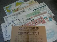 Lot of 14 Vintage Local Restaurant Advertisement Paper Placemats-Pennsylvania