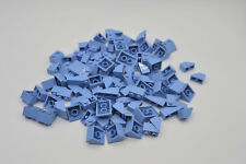 LEGO 100 x Dachsteine Dachziegel blau blue roof brick normal and invers