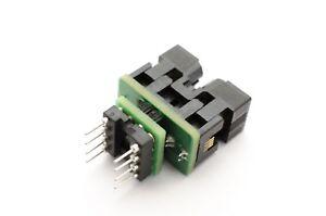 8pin SOIC Socket to 8pin DIL Programming Adapter - UK Manufactured
