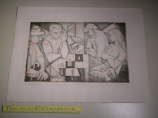 Vintage Irving Amen Etching Print Artist's Proof AP Signed - End Game