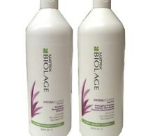Matrix Biolage Hydrasource Shampoo and Detangling Solution  1 lt Duo