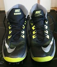 nike air devosion  boots trainers,black/grey/green,size 6,used once