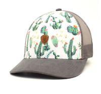 Ariat Women's Hat Baseball Cap Mesh Snap Cactus White Grey