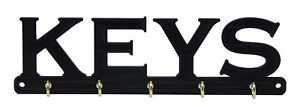 Keys Key Rack Holder Hanger Entryway Organization Wall Mount 5 Hooks Home Decor