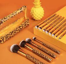 12Pcs Leopard Makeup Cosmetic Brushes Powder Foundation Brush Tools
