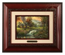 Thomas Kinkade Mountain Retreat Framed Brushwork (Brandy Frame)