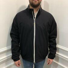 Ermenegildo Zegna Sport XXL Windbreaker Jacket Mens Black Full Zip Pockets