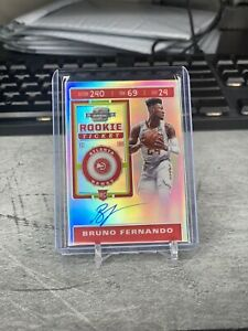 2019/20 CONTENDERS OPTIC BRUNO FERNANDO ROOKIE TICKET AUTOGRAPH SILVER RC CARD