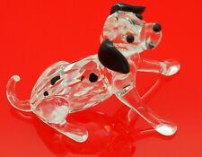 Swarovski Crystal Dalmation Puppy Sitting Dog Figurine Retired 628909 Rare Mint