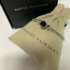 David Yurman chatelaine Bracelet With Black Onyx 925 Sterling Silver 3mm