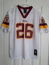 Reebok Large (14-16) youth Washington Redskins White #26 Clinton Portis Jersey