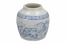 More details for old chinese or english pottery ginger jar blue & white