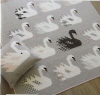 Swan Island - fun modern pieced quilt PATTERN - 4 sizes - Elizabeth Hartman