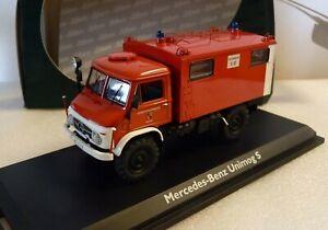 """Schuco - Mercedes MB Unimog 404 S """" Feuerwehr Mainz """" Funkkoffer 1:43 Nr. 03391"""