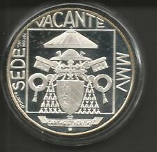 Vaticano 2005 Sede Vacante 5 Euro Ag. Proof in Mint box, in confezione di zecca.