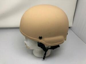 "New MSA Tan TC2002 Helmet ACH MICH ""GunFighter"" Medium"