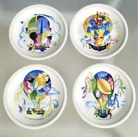 "4 Villeroy & Boch Le Ballon Plates 6 3/8"" Bread & Butter Dessert Plate Balloon"