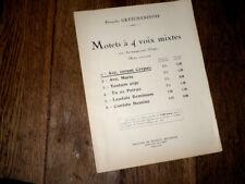 Ave verum corpus 1er motet à 4 voix mixtes et orgue 1937 Gretchaninoff