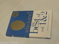 Who Knew? The Best of Vol 1 and & 2 Collector's edition soft cover book RARE
