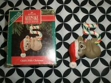 1990 Vtg Hallmark Ornament Childs Fifth Christmas N873