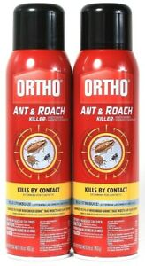 2 Count Ortho 16 Oz Ant & Roach Kills By Contact 99.9% Of Household Germs Spray