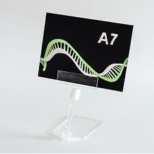 Acrylic look price ticket label holder food display catering small stand x 10