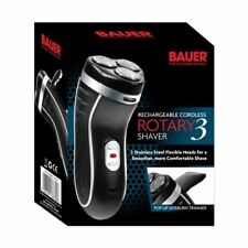 Bauer Rotary 3 Smooth Action Cordless Rechargeable Electric Shaver Razor