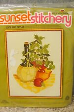 Sunset Stitchery Wine and Apples Embroidery Kit Brand New