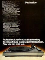 1978 Technics SL-1600 Automatic Turntable Vintage Color Photo Print Ad