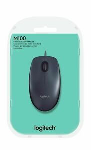 MOUSE LOGITECH M100 GREY CON FILO USB 910-005003