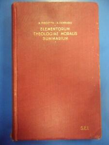 Elementorum theologiae moralis summarium. Dedica Giacinto Trevisonno Piscetta /