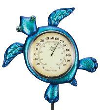 Thermometer Solar Stake Nautical Décor - Sea Turtle - 12716