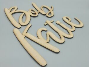 Personalised MDF Name Large Sign Plaque Nursery Wall Decoration